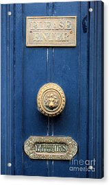Girl Guide Door Acrylic Print