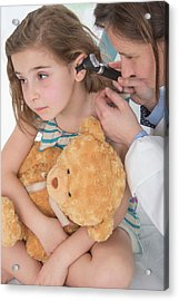 Girl Having Her Ears Examined Acrylic Print