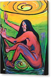 Girl In A Glass # 8 Acrylic Print by Susi LaForsch