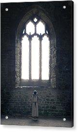 Girl In Chapel Acrylic Print