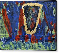 Girl In The Mirror Acrylic Print by Brenda Chapman