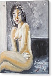 Acrylic Print featuring the painting Girl by Judy Morris