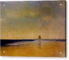 Girl On A Beach Acrylic Print
