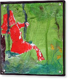 Girl On A Swing Acrylic Print