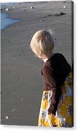 Acrylic Print featuring the photograph Girl On Beach II by Greg Graham