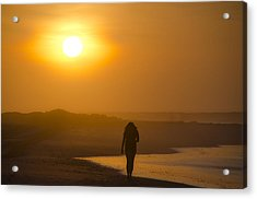 Girl On The Beach  Acrylic Print by Bill Cannon