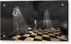 Acrylic Print featuring the digital art Girl On The Floor by Susanne Baumann