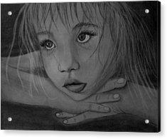 Girl Acrylic Print by Pawel Heluszka
