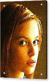 Acrylic Print featuring the painting Girl Sans by Richard Thomas