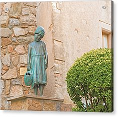 Girl Statue In Tossa De Mar Medievaltown In Catalonia Spain Acrylic Print