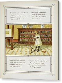 Girl Training Dog Acrylic Print by British Library