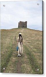 Girl Walks To A Chapel Acrylic Print by Joana Kruse