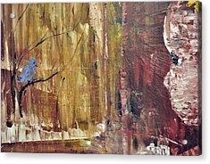 Girl With A Blue Bird Acrylic Print by Evelina Popilian