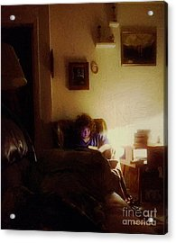Girl With A Book Acrylic Print by RC deWinter