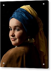 Acrylic Print featuring the photograph Girl With A Pearl Earring by Levin Rodriguez