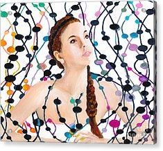 Girl With Beads Acrylic Print