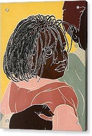 Girl With Braids Acrylic Print