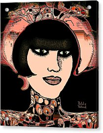 Girl With Hat Acrylic Print by Natalie Holland