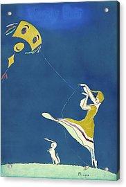 Girl With Kite, C1917 Acrylic Print