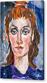 Girl With Ponnytail Acrylic Print