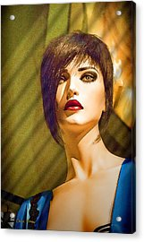 Girl With The Blue Dress On Acrylic Print