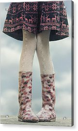 Girl With Wellies Acrylic Print by Joana Kruse