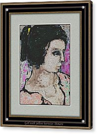 Girl With Yellow Barrette Gwyb2 Acrylic Print by Pemaro