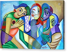 Girlfriends Acrylic Print by Anthony Falbo