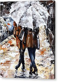 Girlfriends Acrylic Print by Emerico Imre Toth