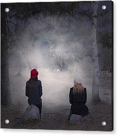 Girlfriends Acrylic Print by Joana Kruse