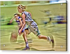 Girls Basketball Acrylic Print