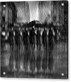 Girls In The Rain Acrylic Print