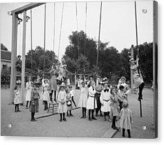 Girls Playground 1899 Acrylic Print by Steve K
