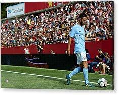 Girona V Manchester City Acrylic Print by Manuel Queimadelos Alonso