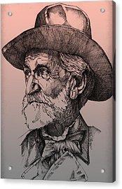 Giuseppe Verdi Acrylic Print by Derrick Higgins