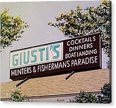 Giusti's In The Sacramento San Joaquin Delta Acrylic Print by Paul Guyer