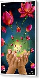 Give Away Acrylic Print by Mayur Sharma