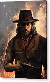 Give 'em Hell Acrylic Print by Steve Goad