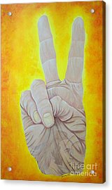 Give Peace A Chance. By Richard Brooks. Acrylic Print