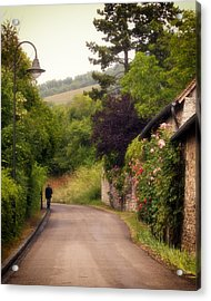 Acrylic Print featuring the photograph Giverny Country Road by Gigi Ebert