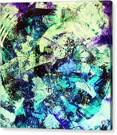 Glacial Earth Acrylic Print by Kusum Vij