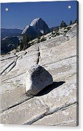 Glacial Erratic & Half Dome Acrylic Print