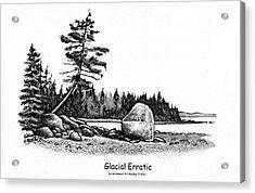Glacial Erratic Acrylic Print