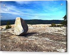 Glacial Erratic On Bald Rock Dome Acrylic Print