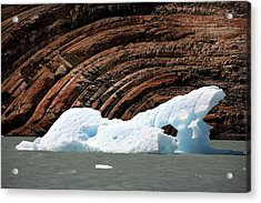 Glacial Groove Marks Acrylic Print by Steve Allen/science Photo Library