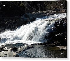 Glacial Potholes Falls Acrylic Print by Catherine Gagne