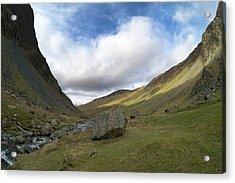 Glacial Valley At Honister Pass Acrylic Print