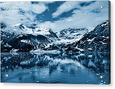 Glacier Bay - Alaska - Landscape - Blue  Acrylic Print by SharaLee Art