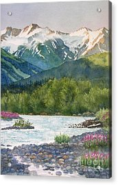 Glacier Creek Summer Evening Acrylic Print