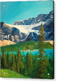 Acrylic Print featuring the painting Glacier by Ellen Canfield